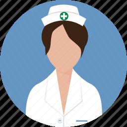 clinic, nurse, occupation, person, profile, surgery, uniform icon