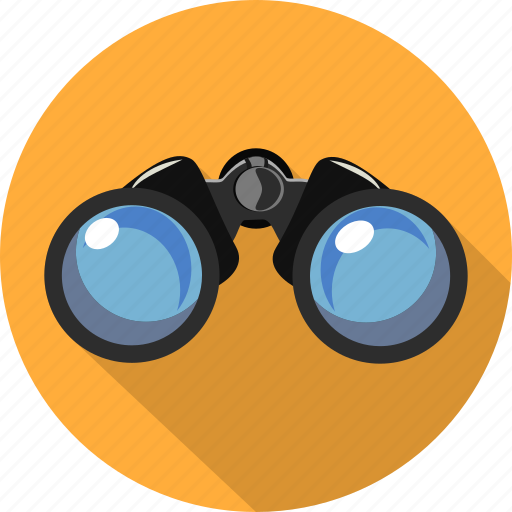 binoculars, control, distance, navigation, research, travel, vision icon