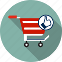 basket, cart, delivery, like, market, sale, shopping icon