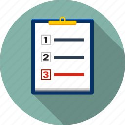 checklist, list, mark, paper, questionnaire, report, text icon