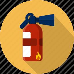 danger, emergency, extinguisher, extinguishing, foam, help, protection icon