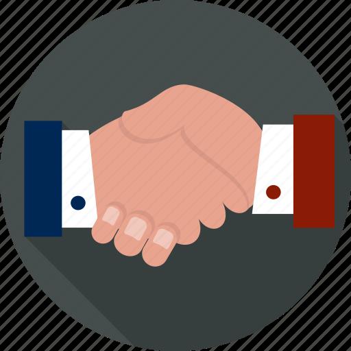 Agreement, congratulating, employment, friendship, greeting, handshake, partnership icon - Download on Iconfinder