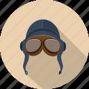 airman, aviator, bomber, goggles, helmet, pilot, vintage icon