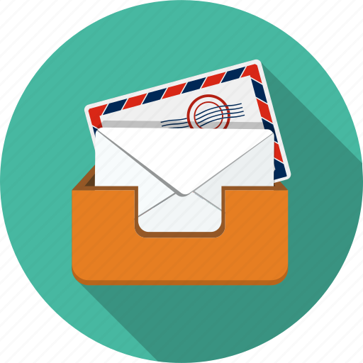 communication, connection, correspondence, letter, mail, mailbox, paper icon