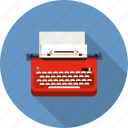 author, journalist, keyboard, publishing, text, typewriter, writer icon
