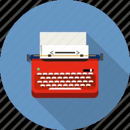 author, journalist, keyboard, publishing, text, typewriter, writer icon