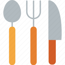 cooking, fork, kitchen, knife, resturaunt, spoon, utensil icon