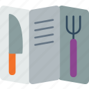 cook, cooking, kitchen, list, menu, restaurant icon