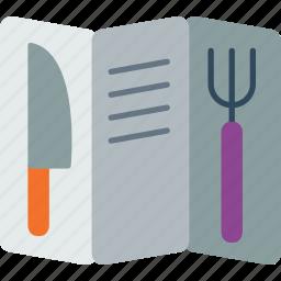 cook, cooking, kitchen, list, menu, restaurant icon