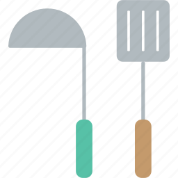 cook, cooking, kitchen, ladle, restaurant, turner icon