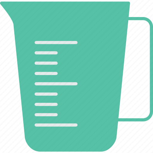 cup, drink, kitchen, measuring, restaurant icon
