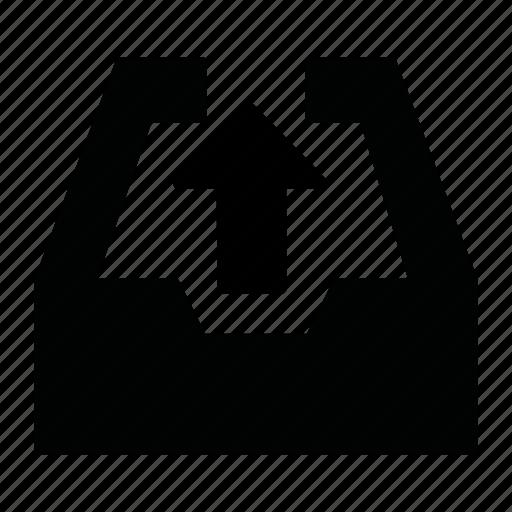 archivie, mail, upload icon