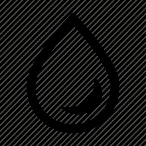 drop, empty icon