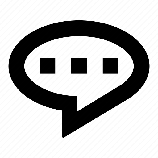 baloon, message, round icon