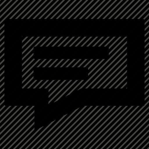 baloon, message, square icon