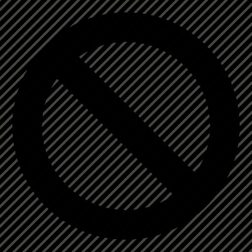ban, prohibition, segnaletic icon