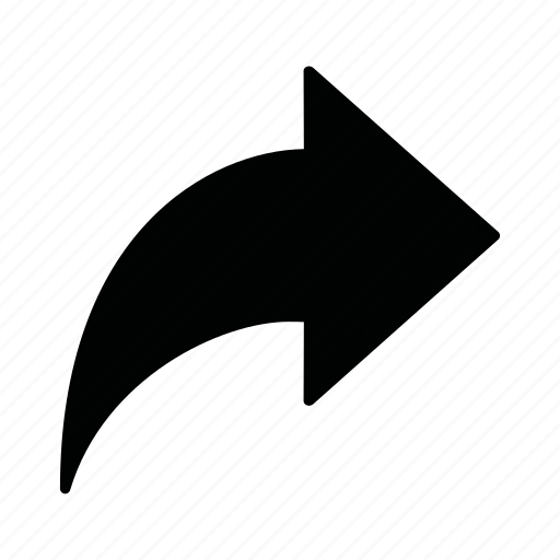 arrow, share icon