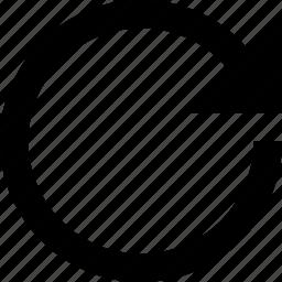 arrow, circle, refresh, reload icon