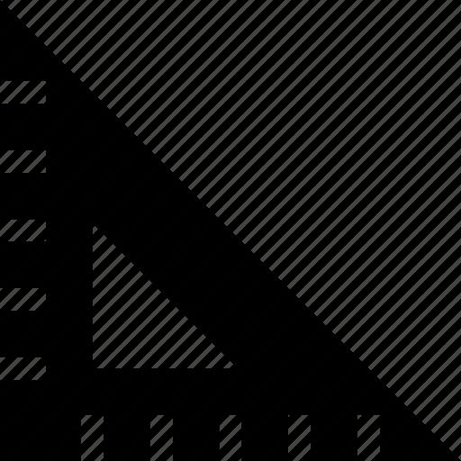 dimension, measure, measurement, ruler, triangle icon