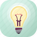 bright, concept, electricity, idea, illumination, light, lightbulb icon
