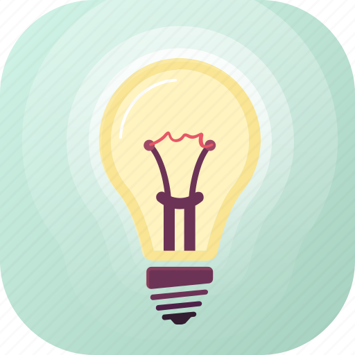 bright, concept, electricity, idea, illumination, light, lightbulb icon
