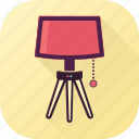 bright, electricity, light, tablelamp icon