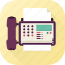 call, communication, fax, message, office appliance, send receive, telephone icon