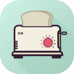 bread, breakfest, hot, sandwich, slices, toaster icon