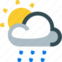 weather, partly, drizzling, drizzle, rain