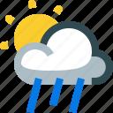 weather, partly, rainy, rain, forecast