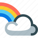 weather, rainbow, cloud, colorful, forecast