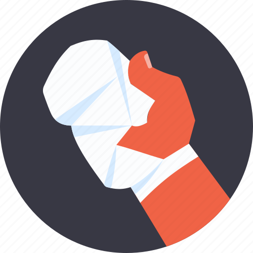 Accident, bandage, hand, incident, medical, medicine, surgery icon - Download on Iconfinder