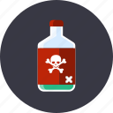 attention, danger, dead, kill, poison, skull, toxic icon