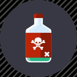 attention, danger, dead, kill, poison, skull, toxic icon