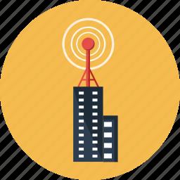 antenna, broadcasting, communication, rendered, telecommunication, tower, transmission icon