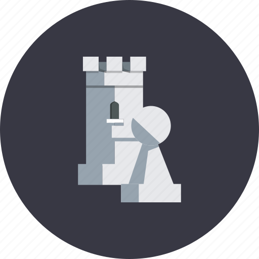 business, chess, games, marketing, sport, strategy, tower icon
