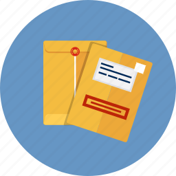 archive, confidential, correspondence, document, envelope, manila, message icon