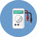 ampere, calibration, equipment, instrument, measurement, multimeter, volt icon