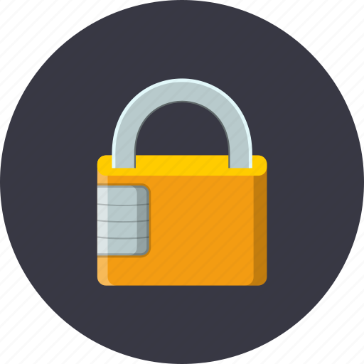 business, combination, number, padlock, password, protection, safety icon