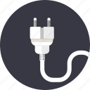 adapter, cable, cord, electric, equipment, plug, socket icon