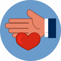 family, hand, heart, help, human, love, protection icon