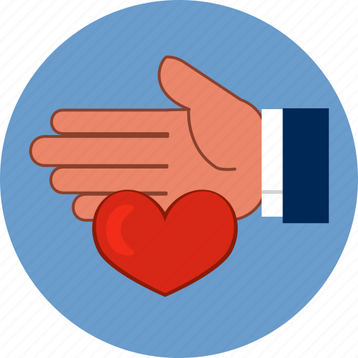 Heart, love, help, family, human, hand, protection icon
