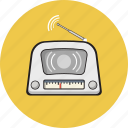 antique, equipment, media, radio, vintage icon