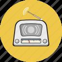 antique, equipment, media, radio, vintage