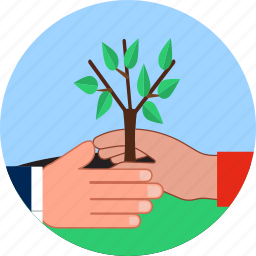 agriculture, eco, evolution, fragility, hands, new life, plantation icon