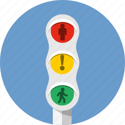 alert, crossroads, crosswalk, direction, highway, intersection, semaphore icon