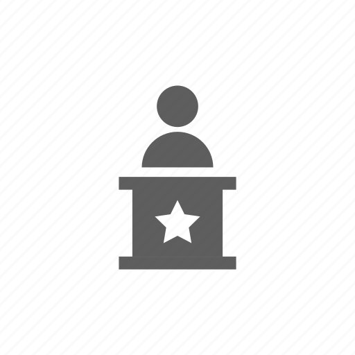 connection, election, person, star, user icon