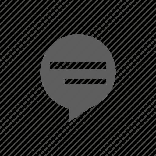 balloon, circle icon