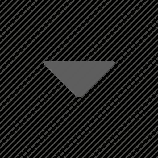 arrow, down, music, sound icon