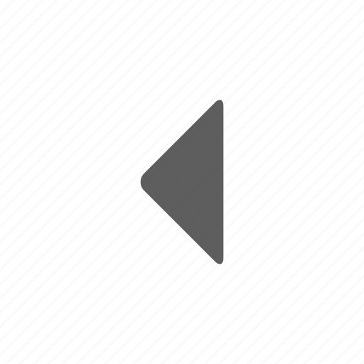 arrow, left, music icon